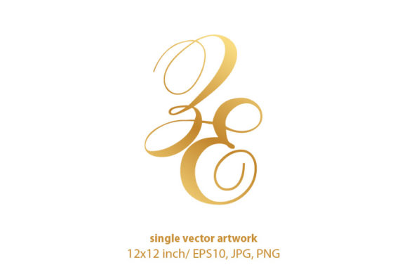 Download Free Monogram Letters Z And E Graphic By Biljanacvetanovic Creative for Cricut Explore, Silhouette and other cutting machines.