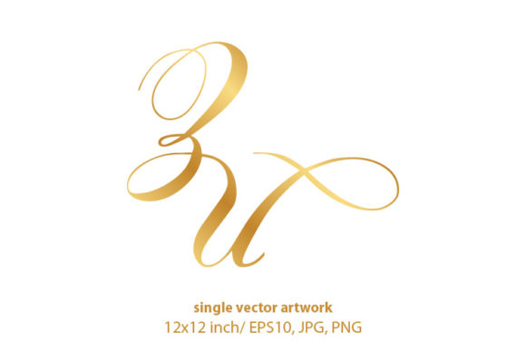 Download Free Monogram Letters Z And U Graphic By Biljanacvetanovic Creative for Cricut Explore, Silhouette and other cutting machines.
