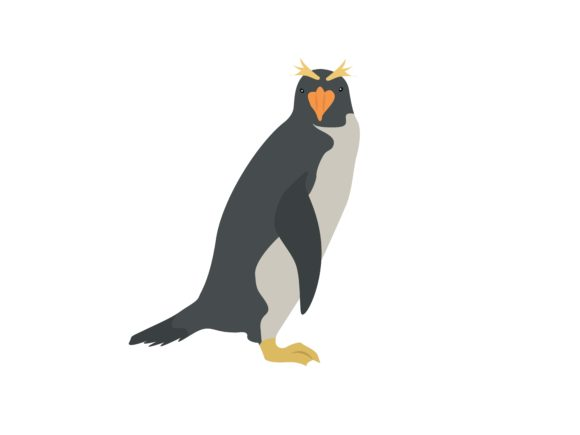 Download Free Penguin Glance Animal Graphic By Archshape Creative Fabrica for Cricut Explore, Silhouette and other cutting machines.