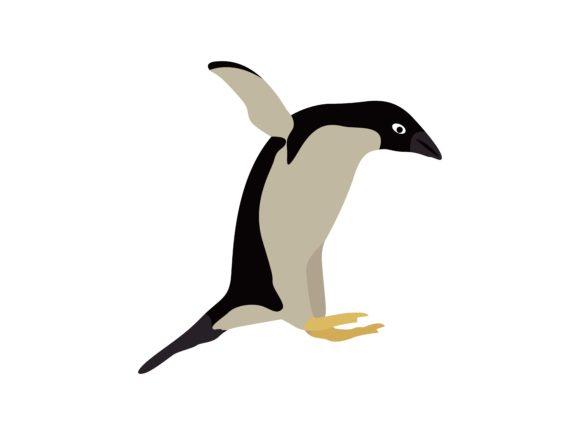 Download Free Penguin Jumps Animal Graphic By Archshape Creative Fabrica for Cricut Explore, Silhouette and other cutting machines.