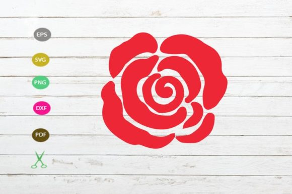 Rose Cut File Flower For Cricut Graphic By Scmdesign Creative