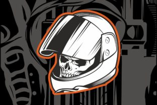 Skull Wearing A Racer S Helmet Graphic By Epic Graphic