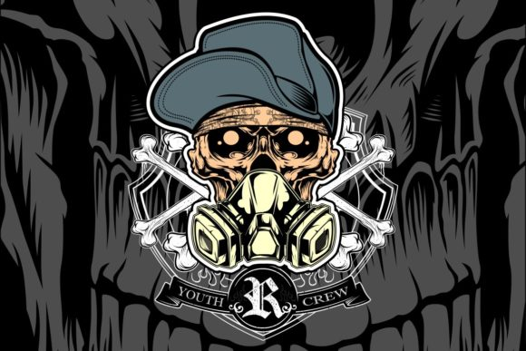 Download Free Skull Youth Crew Hand Drawing Vector Graphic By Epic Graphic for Cricut Explore, Silhouette and other cutting machines.