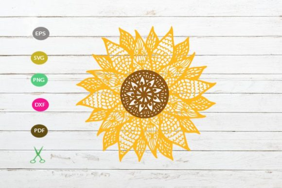 Sunflower Cut File Graphic Crafts By Scmdesign