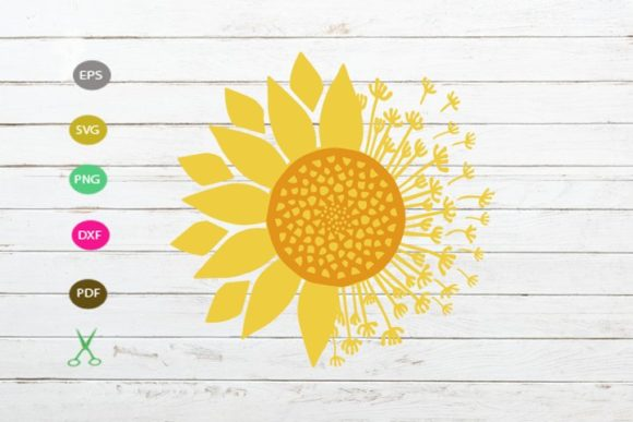 Download Free Sunflower Cut File Graphic By Scmdesign Creative Fabrica SVG Cut Files