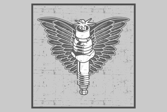 Vintage Grunge Style Spark Plug Graphic By Epic Graphic