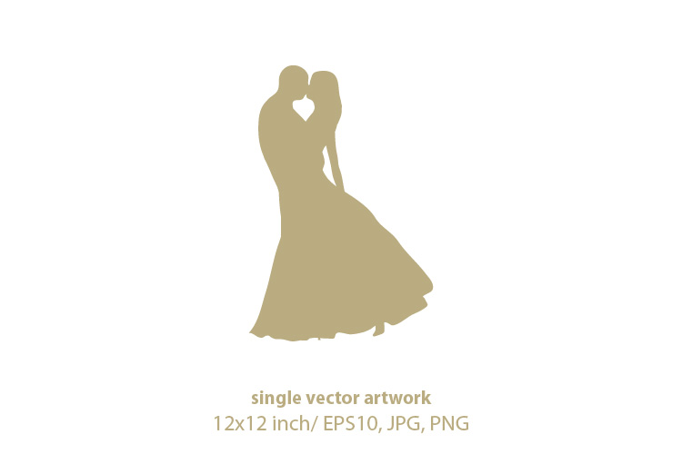 Download Free Wedding Couple Graphic By Biljanacvetanovic Creative Fabrica for Cricut Explore, Silhouette and other cutting machines.
