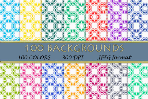 100 Geometric Patterns-112 Graphic Backgrounds By SweetDesign