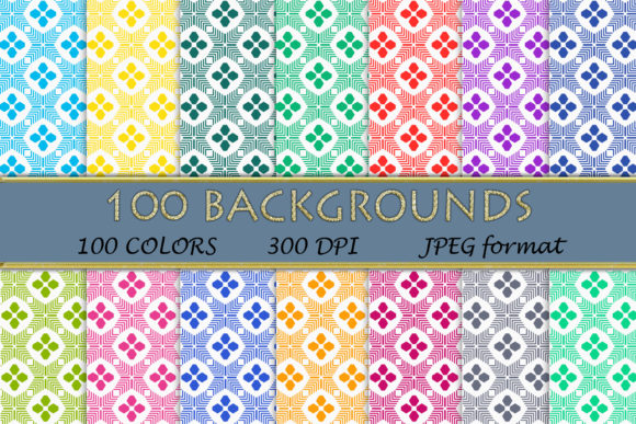 100 Geometric Patterns-113 Graphic Backgrounds By SweetDesign