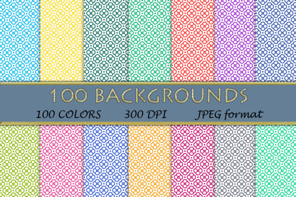 100 Geometric Patterns-116 Graphic Backgrounds By SweetDesign
