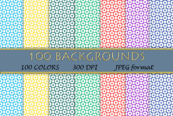 100 Geometric Patterns-117 Graphic Backgrounds By SweetDesign