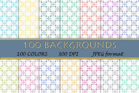 100 Geometric Patterns-119 Graphic Backgrounds By SweetDesign