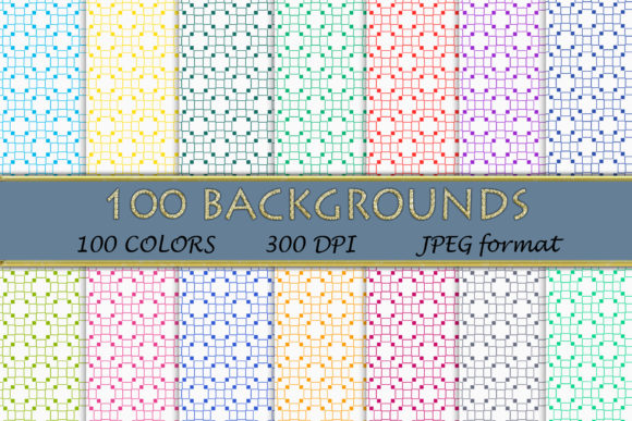 100 Geometric Patterns-120 Graphic Backgrounds By SweetDesign