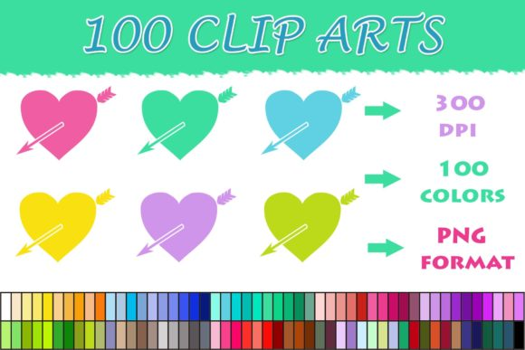 Download Free 100 Heart Arrow Clip Art Graphic By Sweetdesign Creative Fabrica for Cricut Explore, Silhouette and other cutting machines.