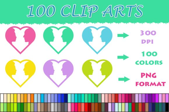 Download Free 100 Heart He And She Clip Art Graphic By Sweetdesign Creative for Cricut Explore, Silhouette and other cutting machines.