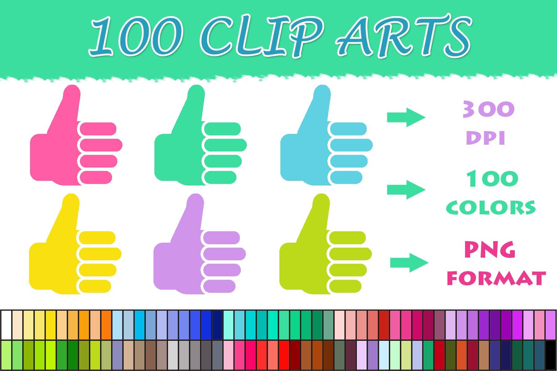 Download Free 100 Thumbs Up Clip Art Graphic By Sweetdesign Creative Fabrica for Cricut Explore, Silhouette and other cutting machines.