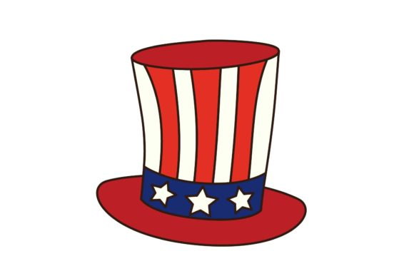 4th July Independence Day Uncle Sam Hat Graphic By Studioisamu