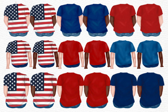 4th of July Family Clipart Graphic Illustrations By LeCoqDesign - Image 2