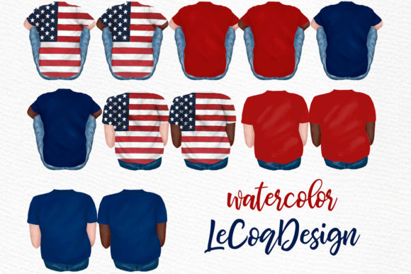 4th of July Family Clipart Graphic Illustrations By LeCoqDesign - Image 3