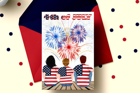 4th of July Family Clipart Graphic Illustrations By LeCoqDesign - Image 6