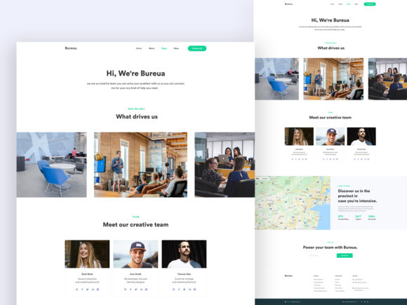 About Us Template Kit Graphic UX and UI Kits By artgalaxy