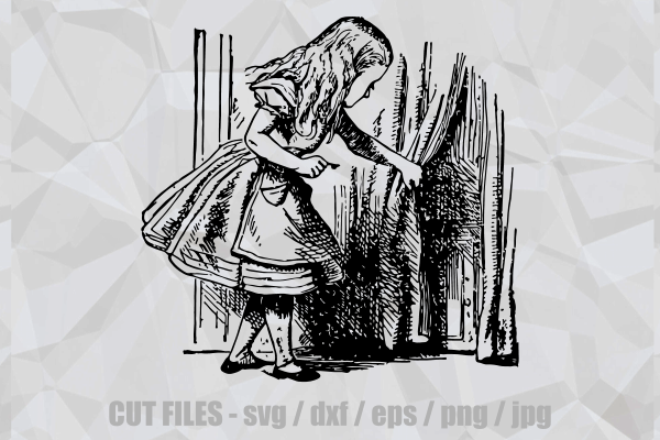 Download Free Alice In Wonderland Door Key Cut File Graphic By Prawny for Cricut Explore, Silhouette and other cutting machines.