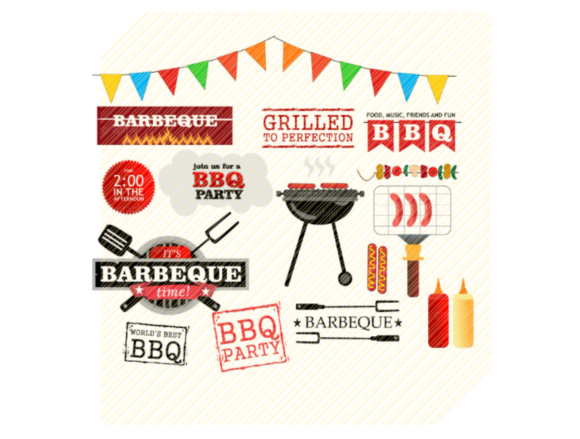 Download Free Barbecue Barbeque Clipart Svg Bundle Graphic By Svgplacedesign for Cricut Explore, Silhouette and other cutting machines.