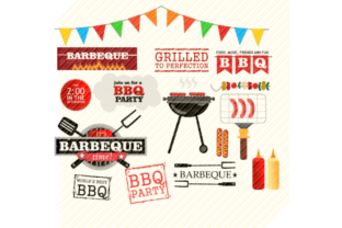 Download Free Barbeque Clipart Bundle Graphic By Svgplacedesign Creative Fabrica for Cricut Explore, Silhouette and other cutting machines.