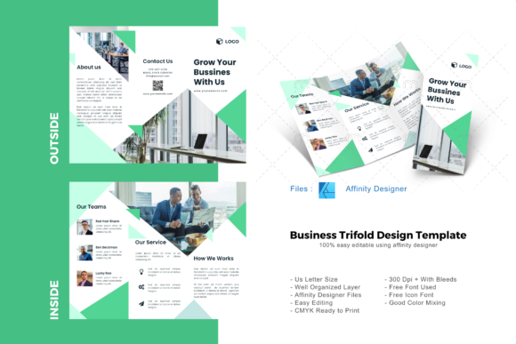 Download Free Business Marketing Trifold Template Graphic By Rivatxfz for Cricut Explore, Silhouette and other cutting machines.