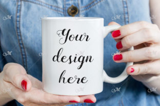 Coffee Mug in Woman's Hands, Mockup Graphic Illustrations By MaddyZ