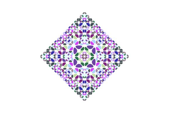 Download Free Colorful Isolated Floral Square Symbol Graphic By Davidzydd for Cricut Explore, Silhouette and other cutting machines.