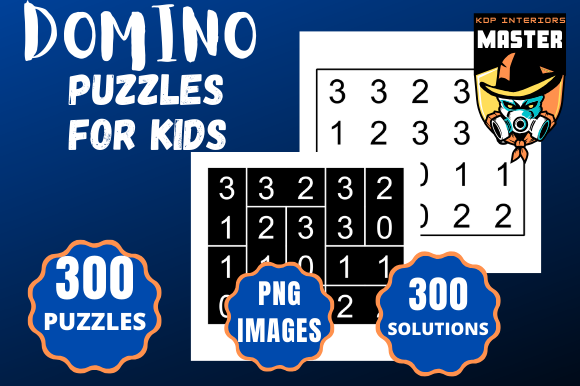 Print on Demand: Domino Puzzles for Kids Graphic KDP Interiors By KDP_Interiors_Master