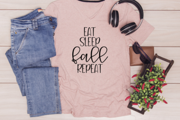Download Free Eat Sleep Fall Repeat Graphic By Talia Smith Creative Fabrica for Cricut Explore, Silhouette and other cutting machines.