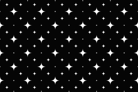 Geometrical Curved Star Pattern Design Graphic Patterns By davidzydd