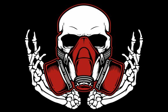 Download Free Graffiti Skull With Gas Mask Hand Drawing Graphic By Epic for Cricut Explore, Silhouette and other cutting machines.