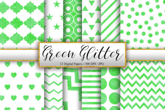 Download Free Green And White Glitter Background Graphic By Pinkpearly for Cricut Explore, Silhouette and other cutting machines.