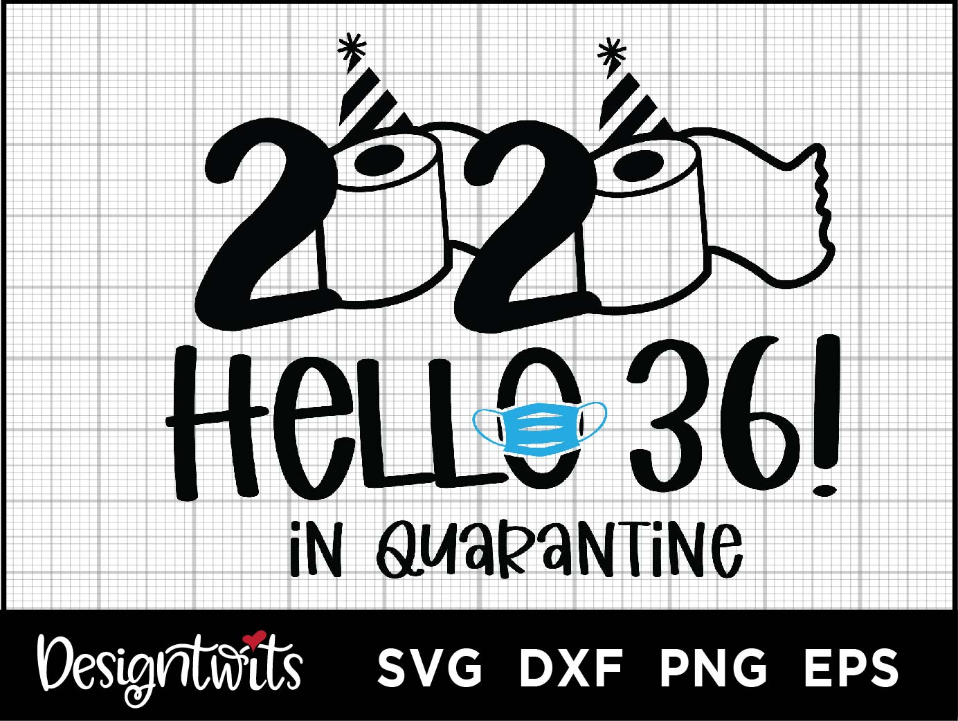 Download Free Hello 36 2020 Graphic By Spoonyprint Creative Fabrica for Cricut Explore, Silhouette and other cutting machines.