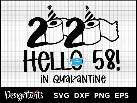 Download Free Hello 58 2020 Graphic By Spoonyprint Creative Fabrica for Cricut Explore, Silhouette and other cutting machines.