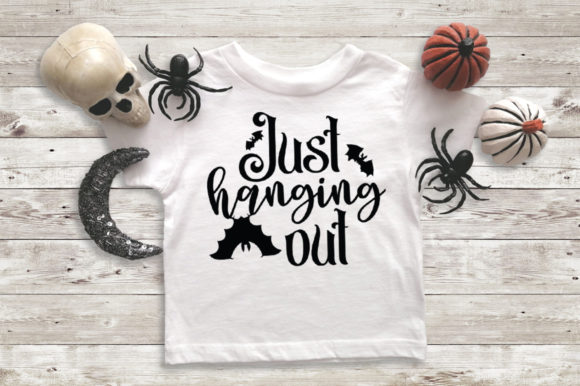 Download Free Halloween Svg Just Hanging Out Graphic By Simply Cut Co for Cricut Explore, Silhouette and other cutting machines.