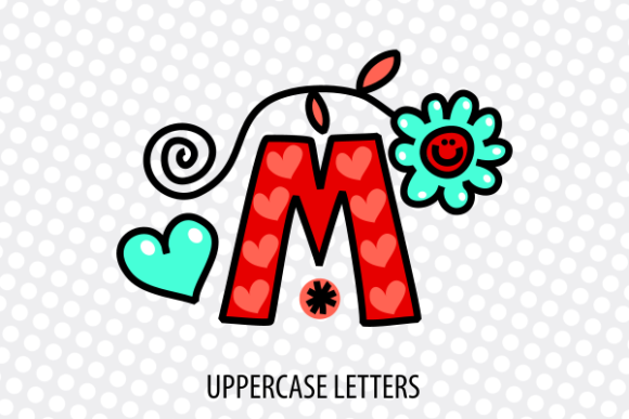 Download Free Hand Drawn Doodle Monogram Alphabet Set Graphic By Prawny for Cricut Explore, Silhouette and other cutting machines.