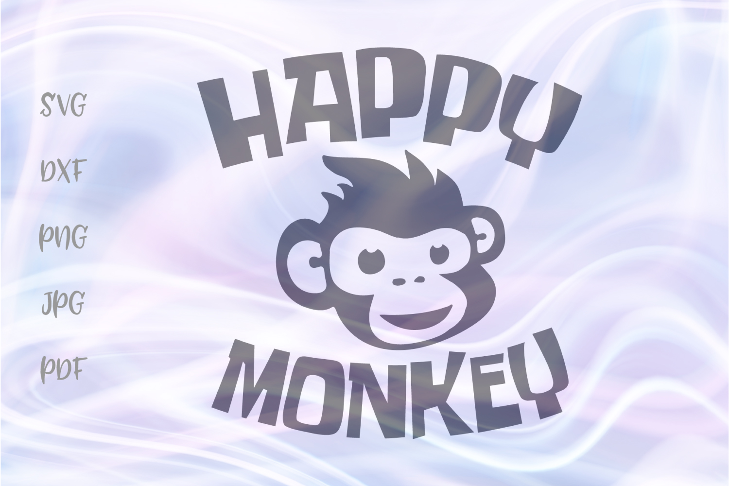 Happy Monkey Face Head Clipart Cut File Graphic By Digitals By