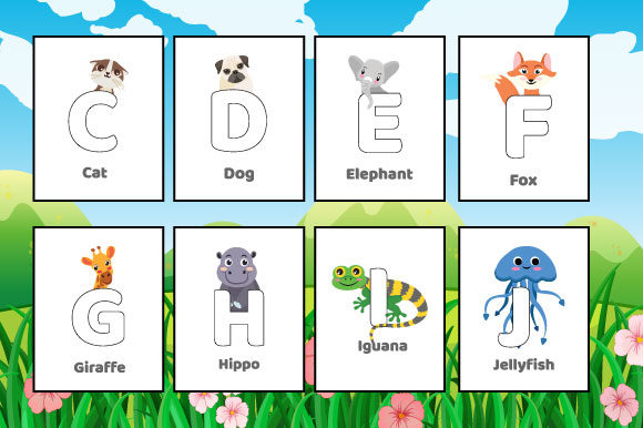 KDP Zoo Animal Alphabet Coloring Pages Graphic KDP Interiors By MK DESIGNS - Image 2