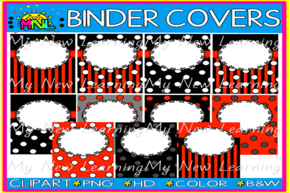 Ladybug Binder Covers 11   Graphic Backgrounds By Ziza Mariposa