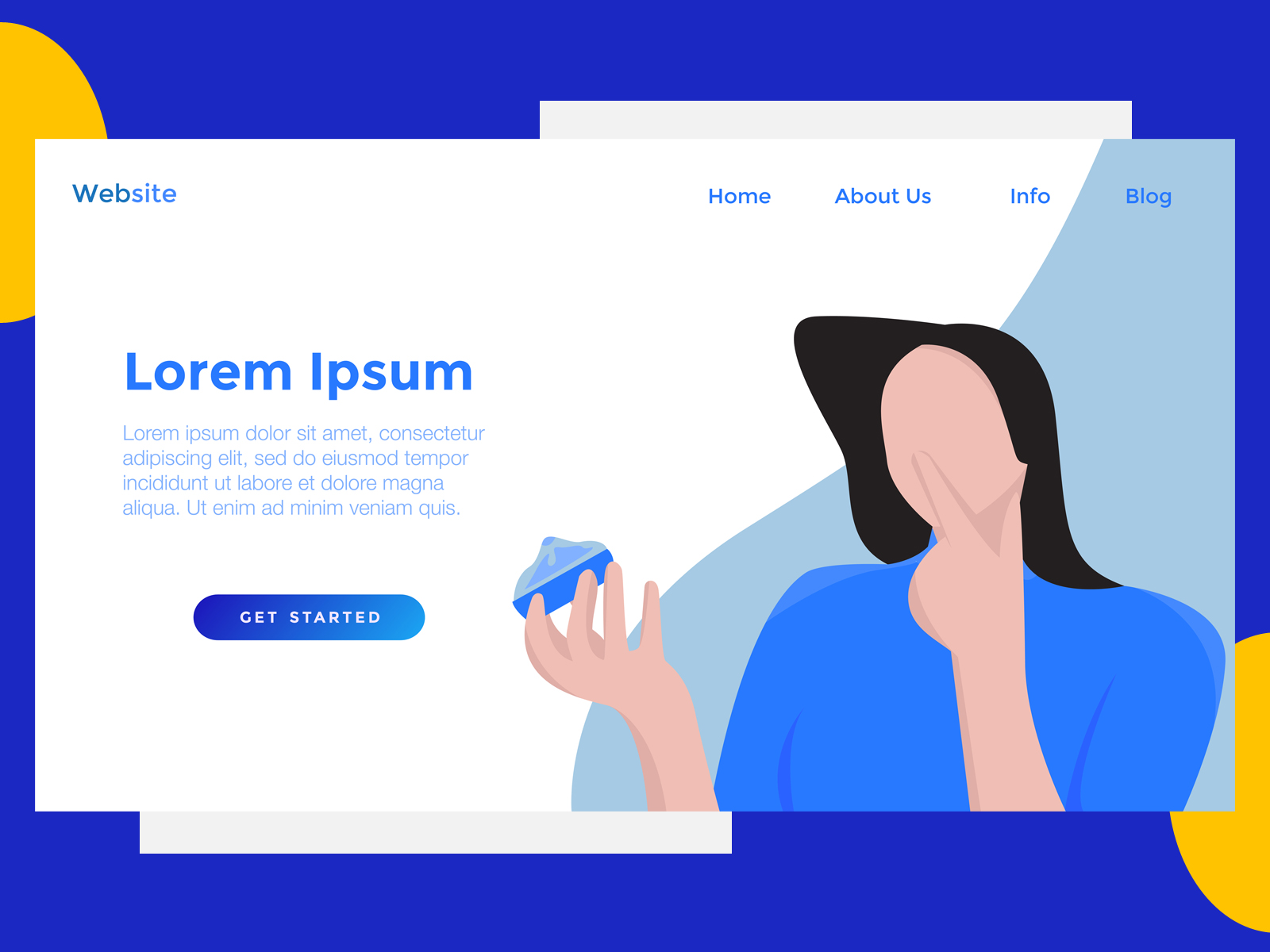 Download Free Landing Page Food Cake Blue Graphic By Archshape Creative Fabrica for Cricut Explore, Silhouette and other cutting machines.