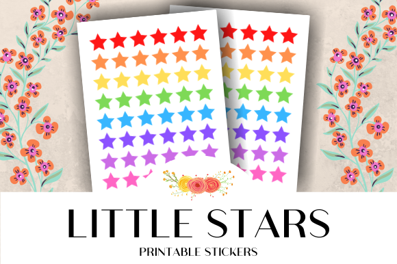Download Free Little Star Icon Printable Stickers Graphic By Atlasart for Cricut Explore, Silhouette and other cutting machines.