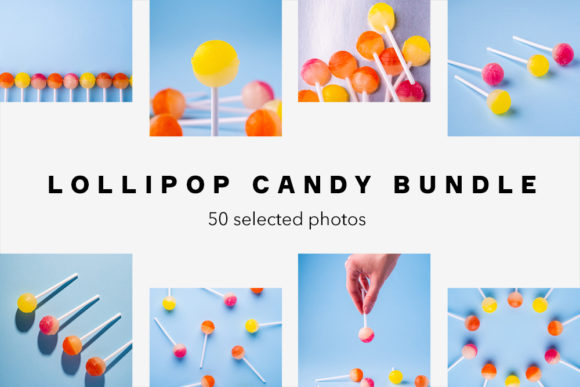 Print on Demand: Lollipop Candy Bundle, 50 Photos Graphic Food & Drinks By frostroomhead