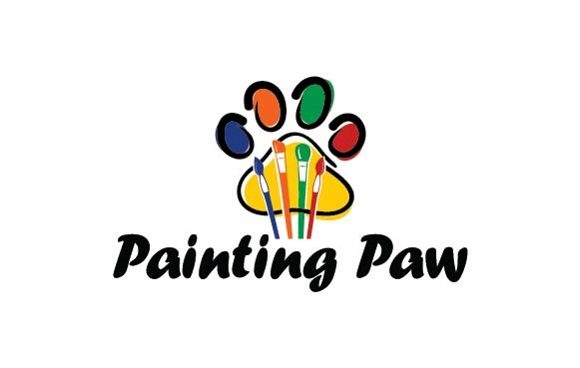 Painting Paw Logo Graphic Logos By Redvy Creative