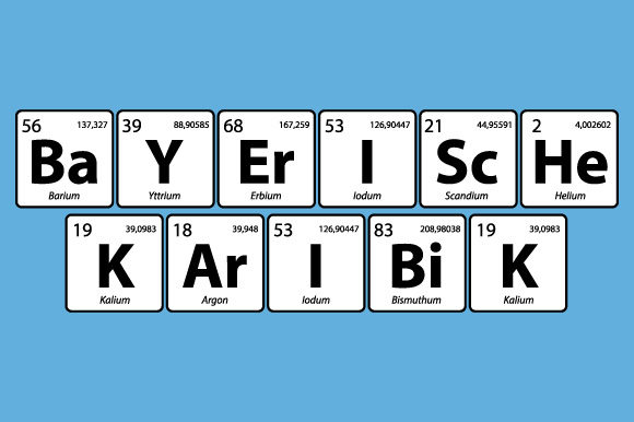 Download Free Periodic Table Bayerische Karibik Vector Graphic By Graphicsfarm for Cricut Explore, Silhouette and other cutting machines.