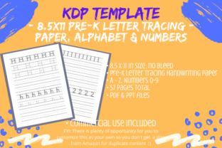 Print on Demand: PreK Number & Alphabet Tracing Pages KDP Graphic KDP Interiors By Tomboy Designs
