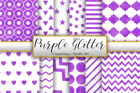 Purple and White Glitter Background Graphic Patterns By PinkPearly